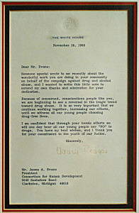 Letter from Nancy Reagan